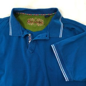 Robert Graham Teal Short Sleeve Polo 2XLT